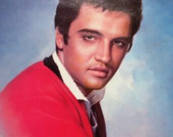 Elvis Presley Circa 1980's In Solid Wood Frame