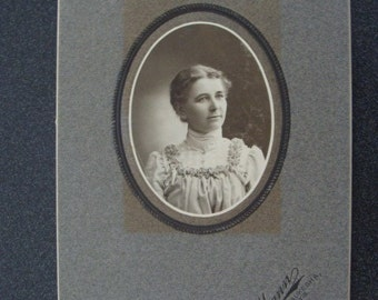 Antique Cabinet Photo Card Margaret