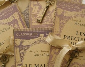 1900s Gorgeous Small Antique Paris French Book