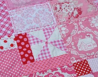 Pink Baby Girl Crib Quilt