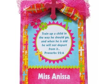 Christian Teacher Clipboard Personalized Hot Pink Glitter