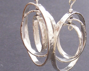 Sterling Silver Constant Motion Earrings