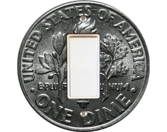Dime Coin Decora Rocker Switch Plate Cover