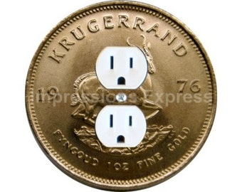 Krugerrand Gold Coin Duplex Outlet Plate Cover