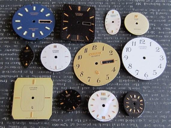 Vintage Antique Watch  Assortment Faces - Steampunk - Scrapbooking D87