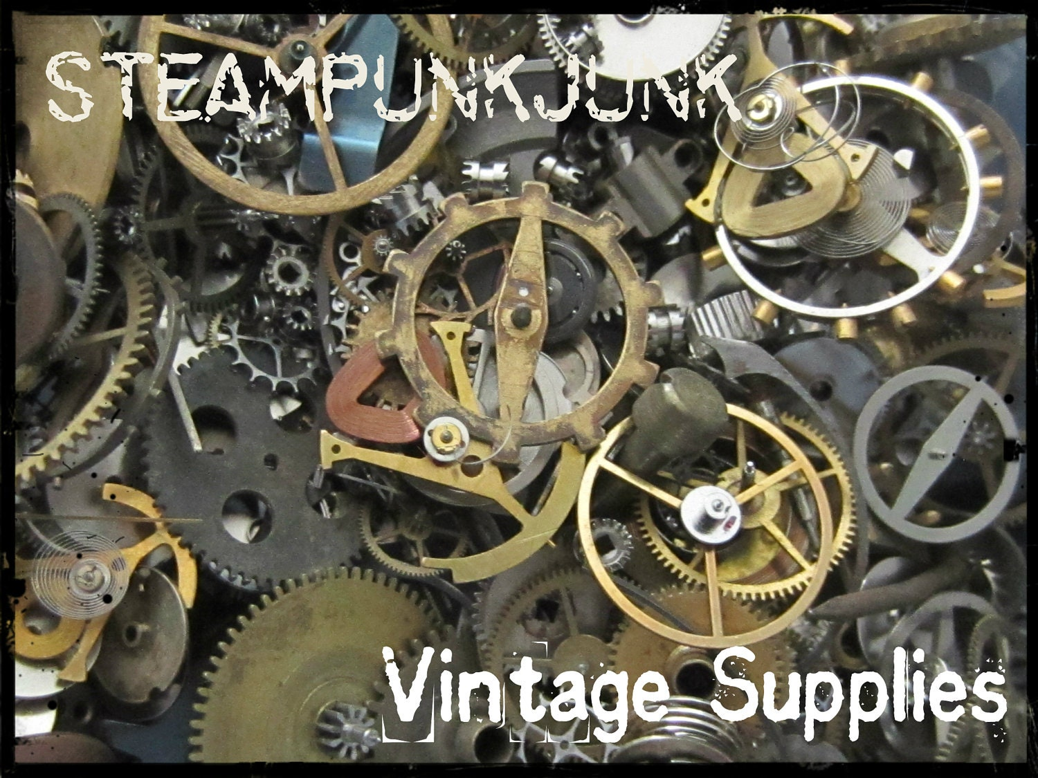 Vintage WATCH PARTS gears Steampunk parts F13 Listing is
