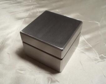 Custom Solid Metal Engagement Ring Box