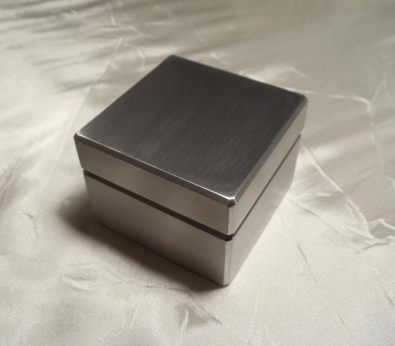 custom solid metal engagement ring box