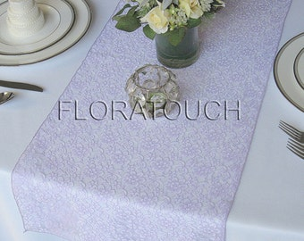 Lilac Lace Table Runner Wedding Table Runner