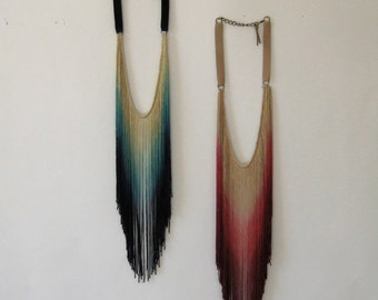 Fringe Necklace Combo Pack //Choose Your Colors // Share with Friends // SAVE