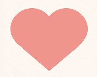 Simple Pink Heart Print