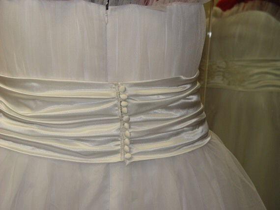 Reserved For Amy - 50s Style Wedding Dress