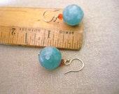 Springs Fashion Earrings, Blue Stone Earrings, Dangle Bead Earrings, Simple Earrings, Drop Earrings, Everyday Earrings, Etsy Sterling Silver