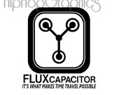 Flux Capacitor Decal, Vinyl Graphic, Back to the Future, Delorean