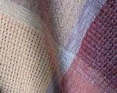 Handwoven Baby Blanket - Girl - Handwoven Square - Table Cloth - Runner