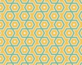 SUMMER SALE - Notting Hill - Hexagons in Canary  - 1 Yard - by Joel Dewberry for Free Spirit - sku PWJD062-Canary