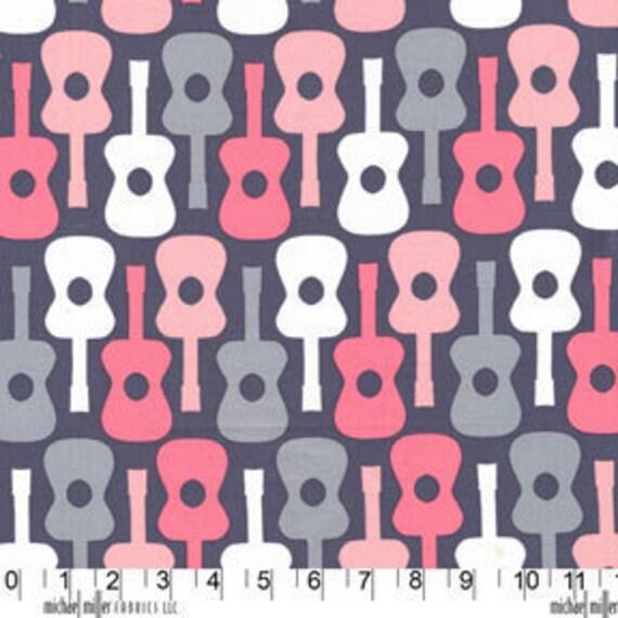 Groovy Guitars in Bloom by Michael Miller Fabrics - Sku 2897 - 1 Yard