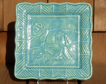 Square horse plate