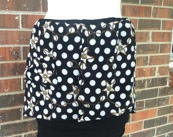 Redesigned Vintage Floral Hi-Low Skirt