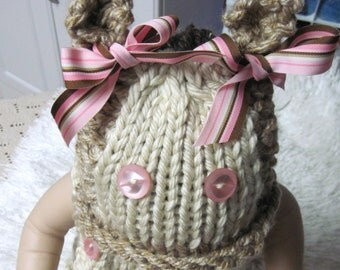 Kitty Kitty Hat  and Sleeveless Top Infant  Knitted Pattern