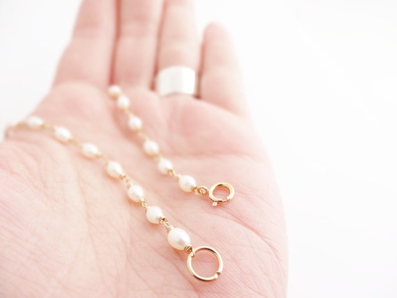 Dainty Pearl Bracelet gold jewelry tiny freshwater pearls white lotus rice pearls wire wrapped in goldfilled dainty fashion