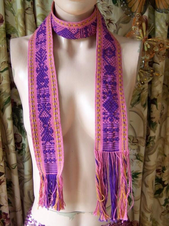 Boho Belt Woven Tie with Fringe
