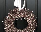 Berry Wreath, Spring Berries, Spring Door Decor, Spring Berry Wreath, Summer Raspberries, Country Berry Wreath, Pip Berry Wreath, Wreaths