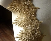 Gold Lace Venise Style Trim for Lyrical Dance, Ballet, Crowns, Costumes, Bridal, Jewelry Design GL 2