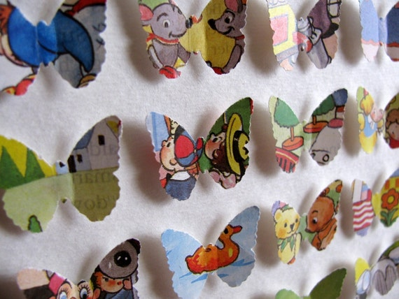 Noddy Books Enid Blyton Vintage Recycled. 3D Shape of YOUR Choice. 5x7. Made to Order. Gift Coupons NOT Accepted