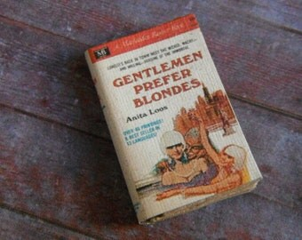 Miniature Book --- Gentlemen Prefer Blondes