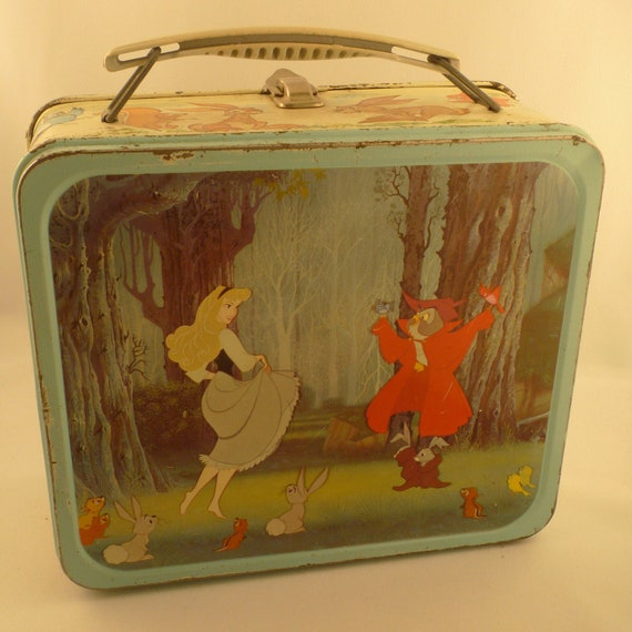 1960 Rare Sleeping Beauty Metal Lunch Box