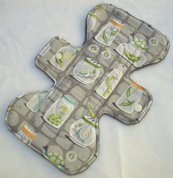 Bug Jars - Grey - 9 inch Cloth Pad 3L - Cotton Top