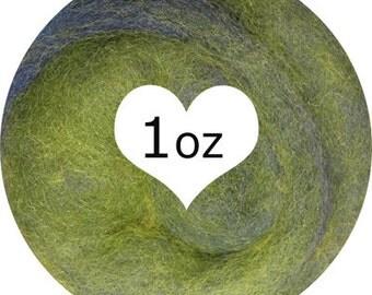 Needle Felting Norwegian C1 Fusion Batts Exclusive from Dream Felt - RAIN FOREST 1oz