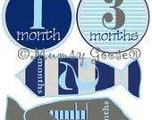 Baby Boy Months Stickers Little Man Tie Month Baby stickers Boy Milestones  Great Newborn Photo Prop