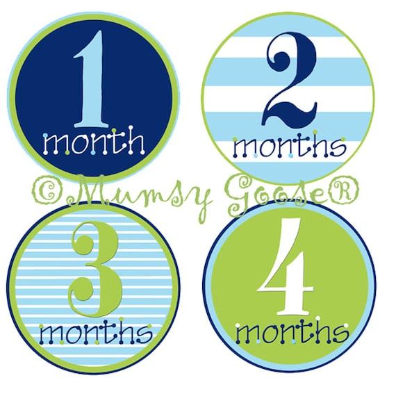 Baby Boy Stickers Baby Months Stickers Boy Month Baby stickers Milestone Age Stickers Great Newborn Photo Prop