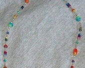 Multi colored beaded necklace.
