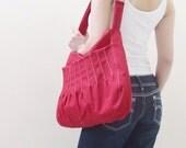New Year SALE - 40% OFF Kangaroo in Red / Market Bag / Sling bag / Hobo / Purses / Hip bag / Crossbody bag / Women / For her / Gift Ideas
