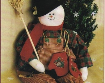 """Sewing Pattern - Let It Snow -  20"""" Snowman Soft Sculpture Doll - Twice As Nice Designs - Christmas Decor"""