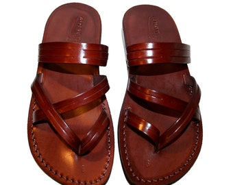 Brown Sling Leather Sandals for Men & Women