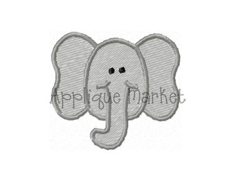 Machine Embroidery Design Elephant Mini INSTANT DOWNLOAD