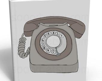 Gray Telephone Vintage -Digital Image Sheet -A4 Print on Pillows, t-shirts, scrapbook, lampshades  ETC.