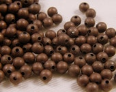 4mm Antiqued Red Copper Plated Stardust Beads - 20 pcs