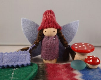 Little Sugar Plum Fairy Playset in a Lavender Bag