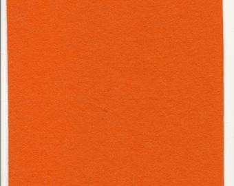 Pure Wool Felt Sheet - Light Orange - Various Sizes