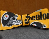 Pittsburgh Steelers on Gold  Bow tie