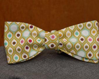 Multicolored Metro Dots  Bow tie