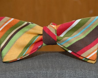 Summer Color Medley of Stripes  Bow tie