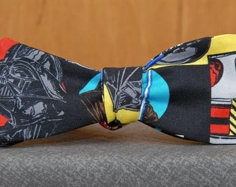 Big Character Star Wars on Black Bow tie