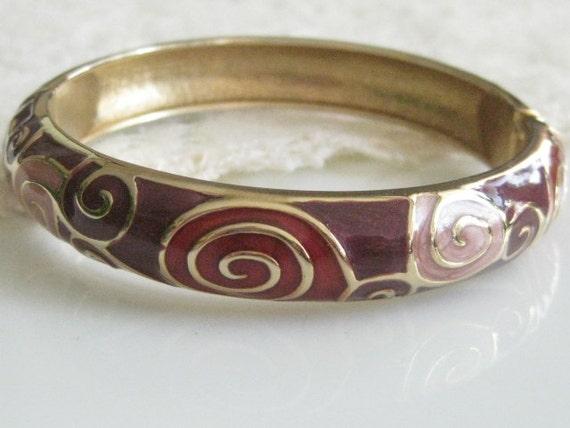 Vintage Enamel Swirl Design Bracelet