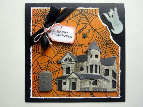 Halloween card Haunted House